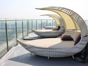 Chill out loungers on 46th floor