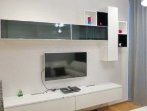 LED TV and DVD player